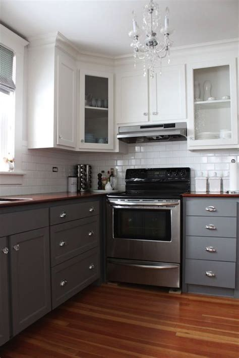 Gray Kitchen Cabinets Transitional Kitchen Benjamin | 2 tone kitchen transitional kitchen benjamin moore