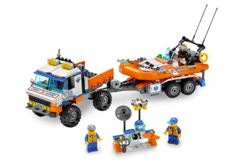 boats and hoes wiki coast guard truck with speed boat 7726 legopedia