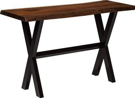 live edge sofa table live edge sofa table with wood x base live edge sofa