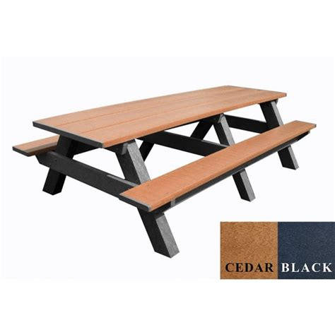 8 Ft Plastic Table by 8 Ft Recycled Plastic Rectangular Picnic Table Portable