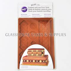 Mould Macrame glasshouse cakes supplies wilton macrame designs fondant gum paste mold