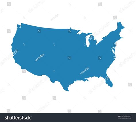 us map for website blank blue unites state map vector stock vector 410467321