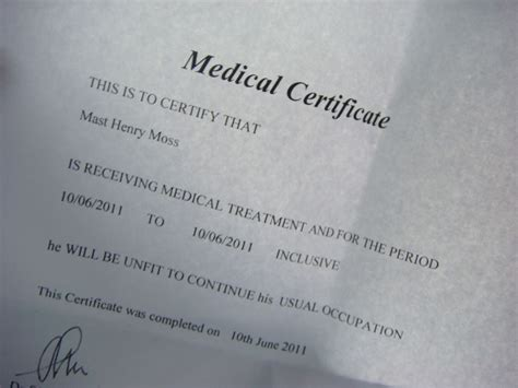 23 medical certificate samples free premium templates