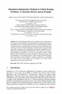Exle Of A Literature Review by Simulation Optimization Methods In Vehicle Routing Problems A Literature Review And An Exle
