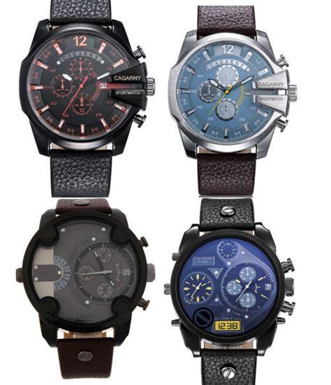 2015 dz mens watches top brand luxury leather