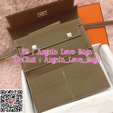 bags the fashion buyer hermes tri fold organiser wallet etoupe