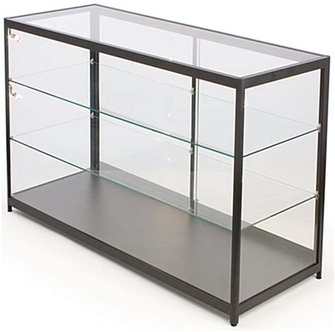 glass counter display cabinet glass counter tempered glass with light up interior