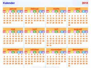 Calendar 2018 Thailand Kalender2018 Horizontaal En Verticaal