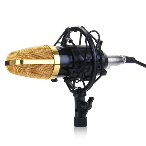 Microphone Bm700 For Recording bm700 condenser microphone sound studio recording dynamic mic shock mount golden ebay