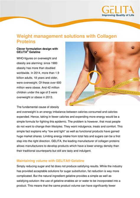 weight management solutions weight management solutions with collagen proteins