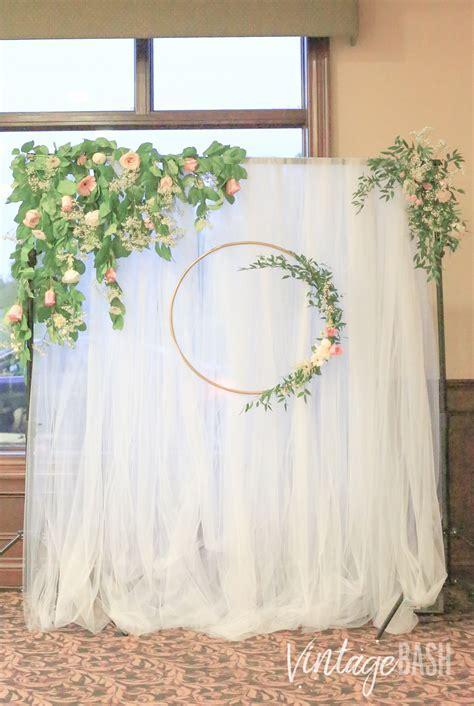 Gorgeous Greenery Wedding Backdrop Inspiration   VintageBash