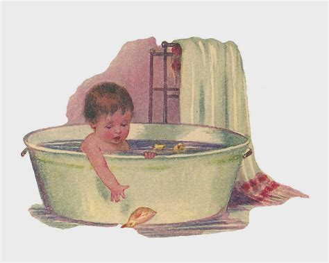vintage baby bathtub antique images free baby clip baby taking bath in