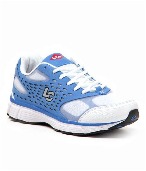 leecooper sports shoes cooper sports sober white and blue shoes price in