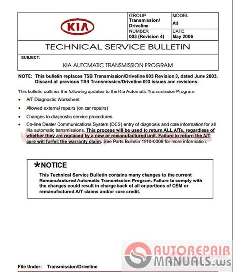 kia shop manual auto repair manuals kia all model shop manual dvd