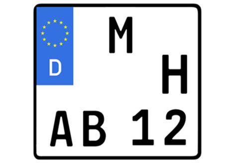 H Kennzeichen Motorrad by Motorrad Zulassen 4 Verschiedene Kennzeichen M 246 Glich