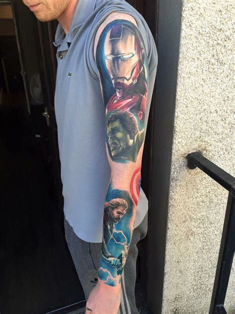 avengers tattoo sleeve an overlook of my marvel sleeve random