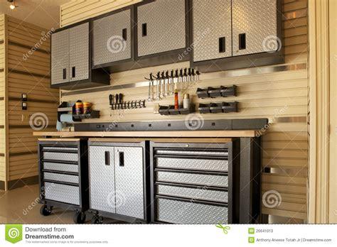 garage workspace stock image