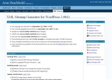 theme exles yahoo google xml sitemaps generator for wordpress