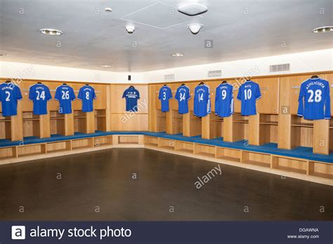 Changing Room Live by Players Shirts In Home Team Changing Room Chelsea