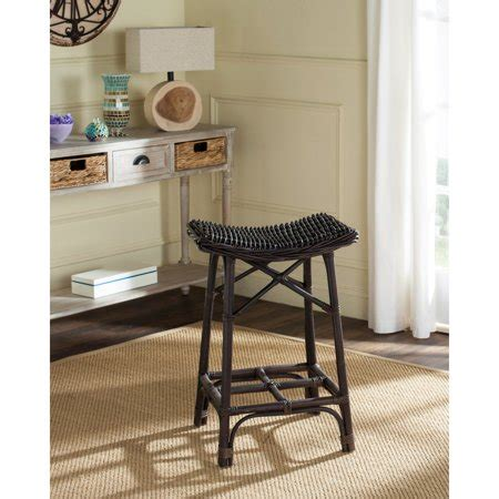 Walmart Wicker Bar Stools by Safavieh Amara Wicker Bar Stool Brown Walmart