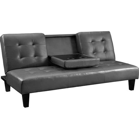 Leather Futon With Cup Holders by Leather Futon With Cup Holders Bm Furnititure