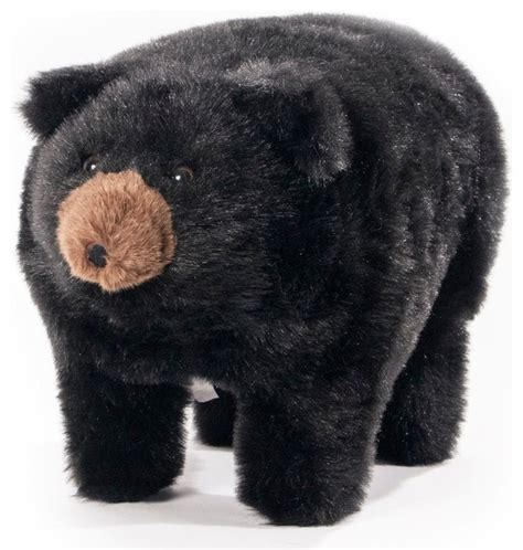 bear ottoman midnite black bear footstool rustic footstools and