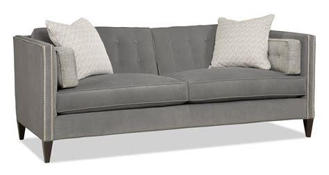contemporary two two sofa with nailhead trim by sam