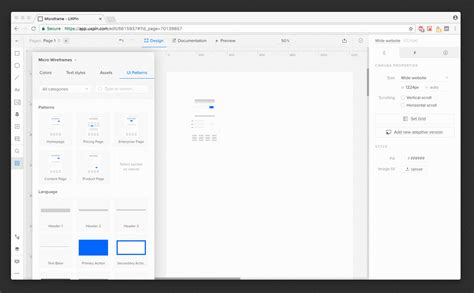 uxpin pattern library the next generation wireframes are microframes