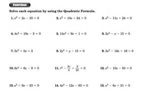 collection of the quadratic formula and the discriminant