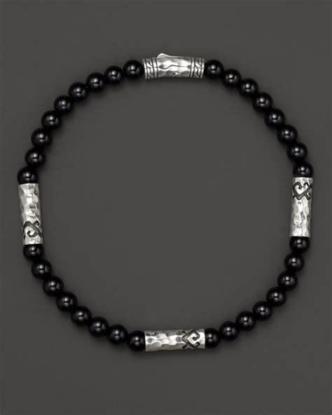 Batu Black Onyx 1 hardy s sterling silver palu multi station bracelet with black onyx in black for