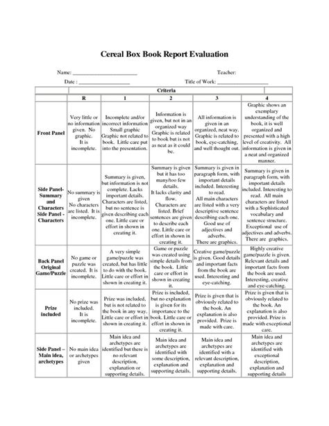 book report rubric 4th grade 4th grade book report project rubric non fiction book