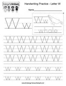 free printable letter w writing practice worksheet for