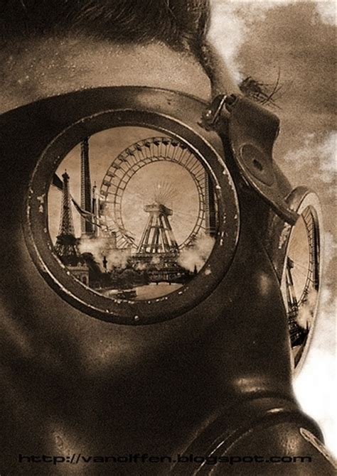 tattoo nightmares gas mask apocalyptic circuses ferris wheels gas masks goggles