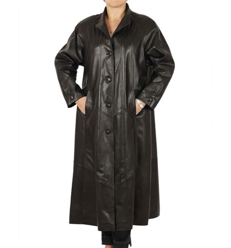 leather swing coat ladies full length black leather swing coat from simons