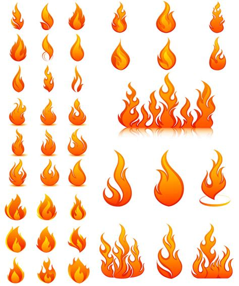 flames template vector graphics