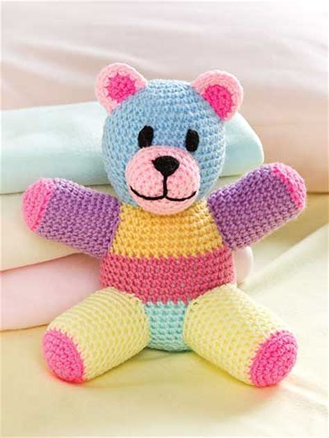 Patchwork Teddy Pattern - crochet dolls toys stuffed toys patchwork teddy
