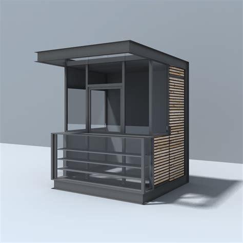 pavillon modern modern pavilion 3d model