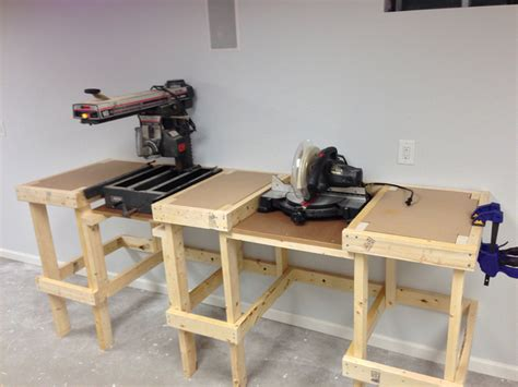 bench chop saw radial arm and miter saw bench flickr photo sharing