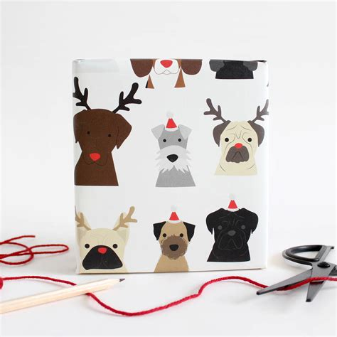 paper a puppy wrapping paper by alstead design notonthehighstreet