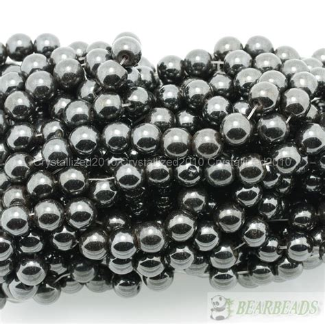 4mm Hematite Magnet magnetic hematite gemstones 4mm 6mm