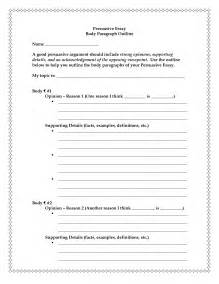 Exle Essay Outline by Persuasive Essay Guidelines Persuasive Outline Exle Of A Persuasive Research Paper Outline