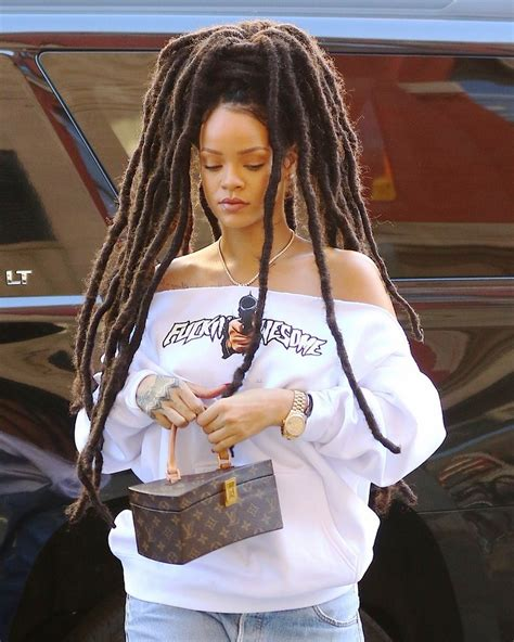 latest dread rihanna shows off new dreadlock hairstyle first close up