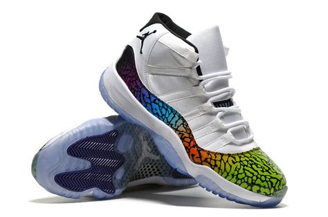Air 11 White Colourful air 11 new colourful colorways for sale