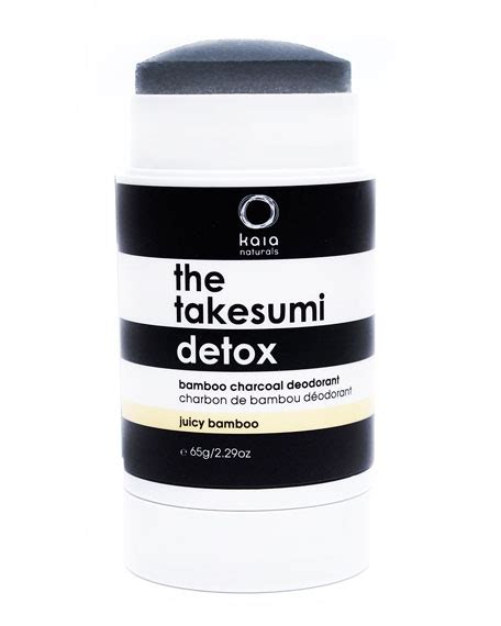 Charcoal Detox Deodorant by Bamboo The Takesumi Detox Bamboo Charcoal Deodorant