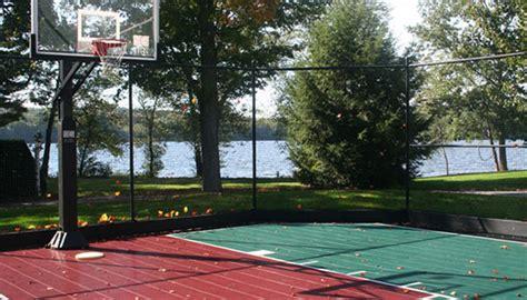 backyard basketball backyard basketball courts ma sport court new