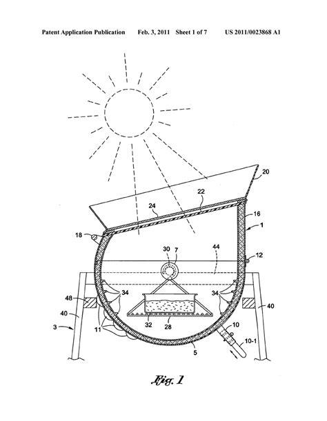 solar oven diagram solar oven drawing