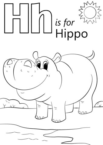 coloring pages for letter h free worksheets 187 printable letter h free math