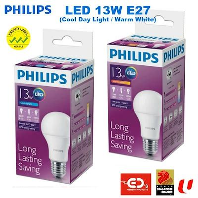 Promo Lu Led Phillips 13w qoo10 philips led 13w e27 bulb cool day light warm white 필립스 led 13w e27 furniture deco