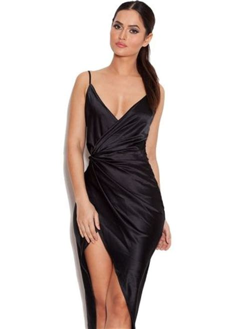 1 Coco Dress coco black satin drape back dress fancy dresses
