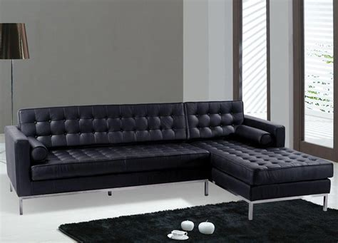contemporary black leather sectional sofa modern black leather furniture sofa ideas